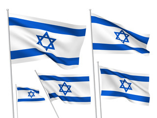 Israel vector flags