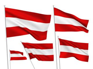 Austria vector flags