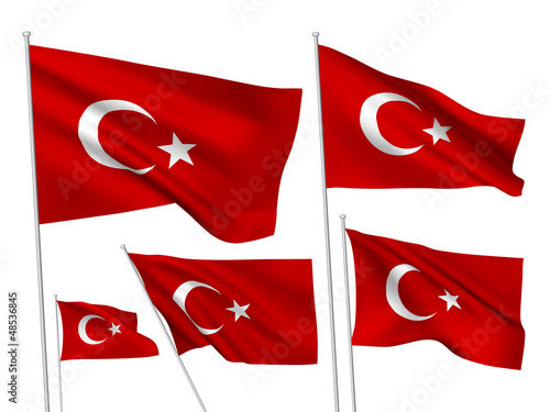 Turkey vector flags