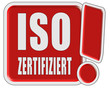 !-Schild rot quad ISO ZERTIFIZIERT