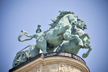 Plaza de los Héroes   Budapest  (Hungría) avenida Andrássy