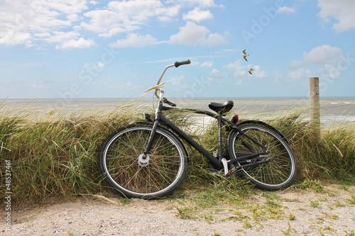 Deurstickers Fietsen Fahrrad - 001 - Strand