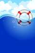 Vector illustration of Life Buoy in water