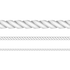 Vector illustration of ropes