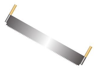 Vector illustration of saw