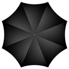 Vector illustration of black umbrella