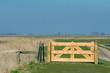 Wooen fence in landscape