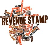 Word cloud for Revenue stamp poster