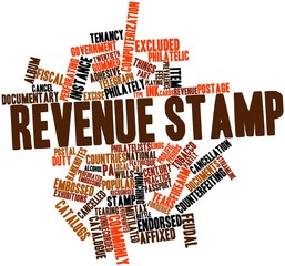 Word cloud for Revenue stamp