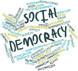 Word cloud for Social democracy