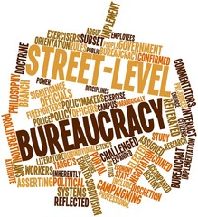 Word cloud for Street-level bureaucracy