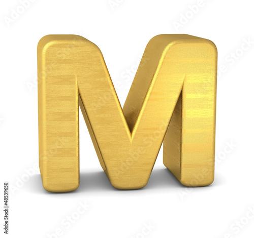 buchstabe letter M gold vertikal