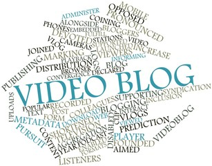 Word cloud for Video blog