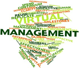 Word cloud for Virtual management