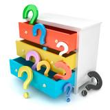 Question mark dresser