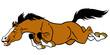 running cartoon horse
