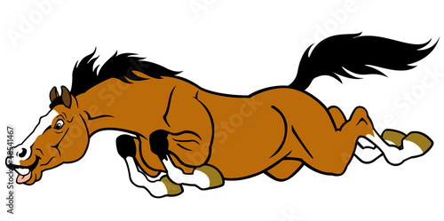 running cartoon horse