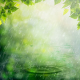 Summer rain. Abstract natural backgrounds for your design poster