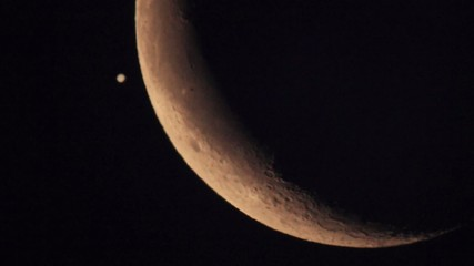 Covering the planet Jupiter by the Moon 15.07.2012, Makeevka, Uk