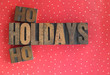 holidays ho ho words on polka dots