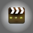 User interface clapboard icon