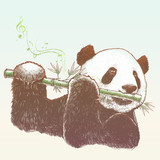Fototapety Panda, The bamboo musician