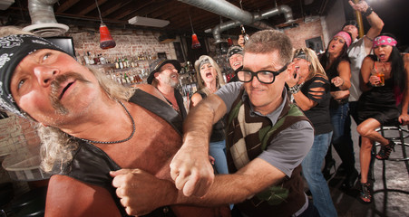 Geek Punches Gang Member