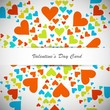 Beautiful valentines day with colorful hearts card