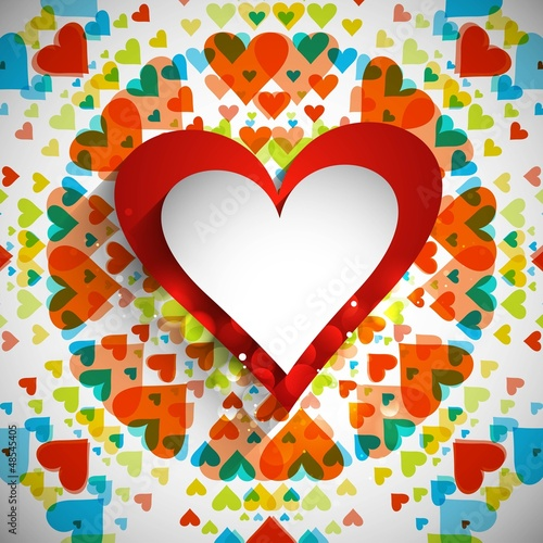 valentines day with colorful hearts card design