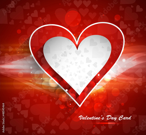 Valentines day colorful card vector design