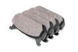 four brake pads, isolatet on white