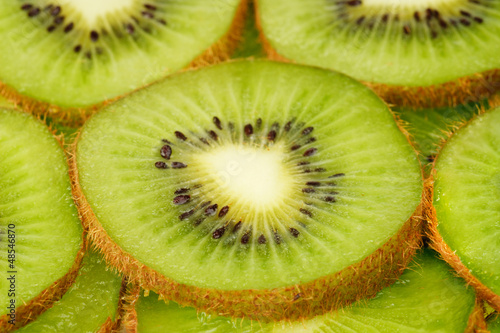 slices of kiwi fruit background