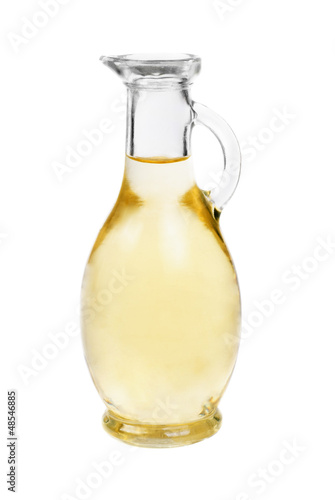 Staande foto Kruiderij Vinegar bottles isolation on white background