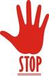 "рука с надписью ""stop"" на манжете"