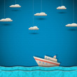 Cruise liner and clouds