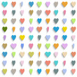 Vector background with colorful paper hearts