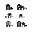 Houses silhouettes