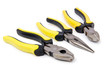 Yellow pliers isolated on the white