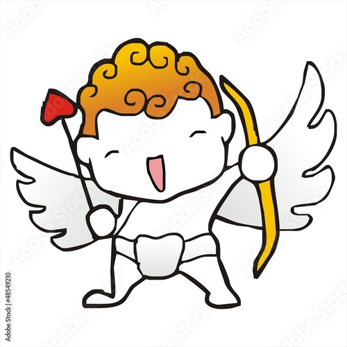 baby cupid Archer valentine cartoon vector