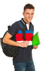 Happy student guy