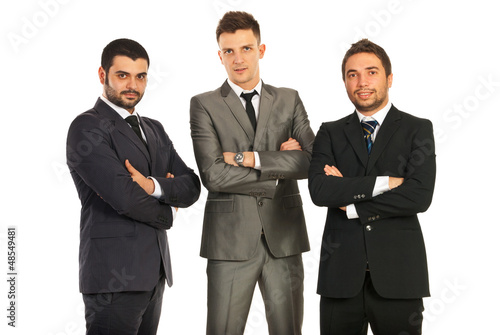 Business men with hands crossed