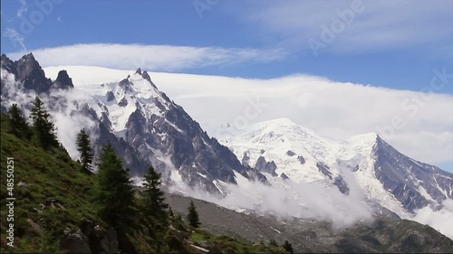 Time Lapse in mountains. Alpine views near Mont Blanc