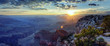 panoramic view of Grand Canyon at sunrise