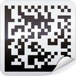Sticker code-barres datamatrix