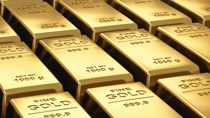 Moving stacks of gold bars