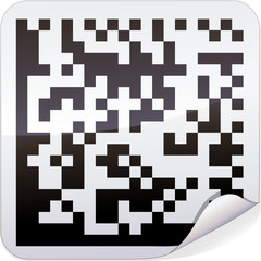 Sticker code-barres datamatrix
