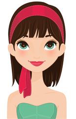 Girl portrait red headband