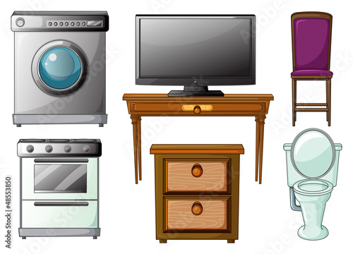 Appliances and furnitures