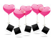 Photo cards with heart balloons