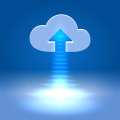 Uploading active cloud icon